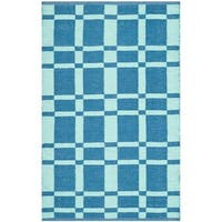 Thom Filicia Hand-woven Indoor/ Outdoor Sea Plastic Rug - 2'6 x 4'