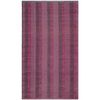 Thom Filicia Hand-woven Indoor/ Outdoor Indian Red Plastic Rug - 3' x 5'