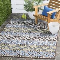 Safavieh Veranda Piled Indoor/ Outdoor Blue/ Cream Rug - 2'7 x 5'