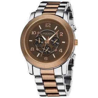 Akribos XXIV Women's Quartz Multifunction Fashion Brown Bracelet Watch