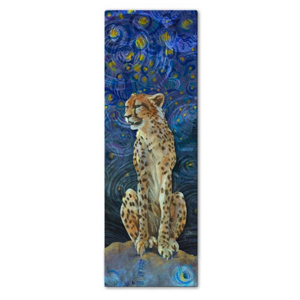 Small Metal Wall Art nancy jean busse 'cheetah' metal wall art - free shipping today
