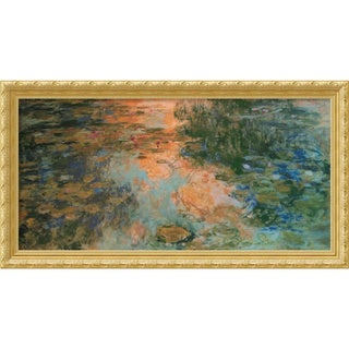 Claude Monet 'The Water-Lily Pond, 1917-19' Framed Art Print (43 x 23-inch)
