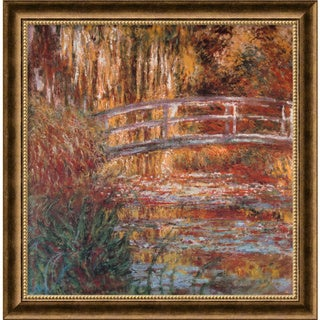 Claude Monet 'The Water-Lily Pond, 1900' Framed Art Print (27 x 27-inch)
