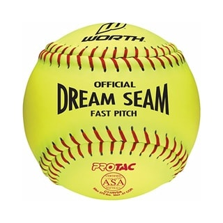 12-inch Yellow Pro Leather Softball (Pack of 12)