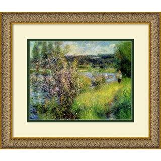 Pierre-Auguste Renoir 'The Seine at Chatou' Framed Art Print (18 x 15-inch)