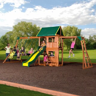 Backyard Discovery Prairie Ridge Brown Wood Play Set