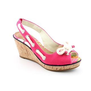 Sperry Top Sider Women's 'Southport' Pink Canvas Sandals