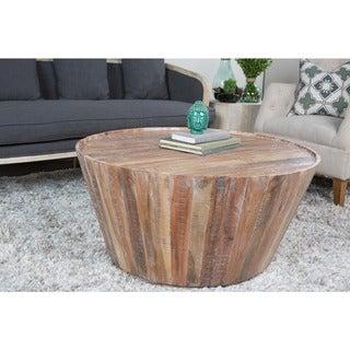 Hamshire Reclaimed Wood 32-inch Barrel Coffee Table by Kosas Home