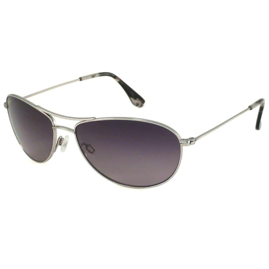 Maui Jim Unisex Baby Beach Gs245 17 Silver Titanium Polarized Aviator Sunglasses