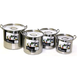 Link to Alpine Stainless Steel Big 8-piece Stock Pot Set 6/8/12/15 Quart Similar Items in Kitchen Appliances