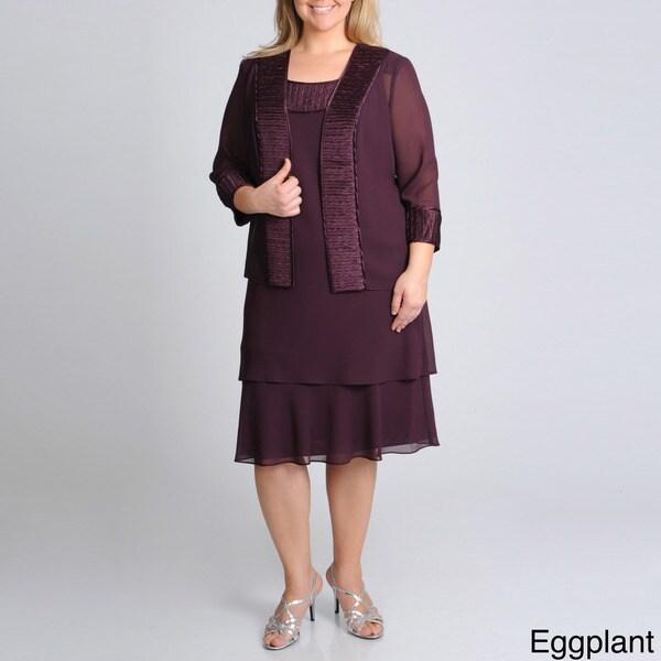 R & M Richards Women's Plus Jacket Dress