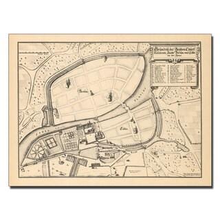'Memhardt 'Map of Berlin and Coelln, 1652' Canvas Art