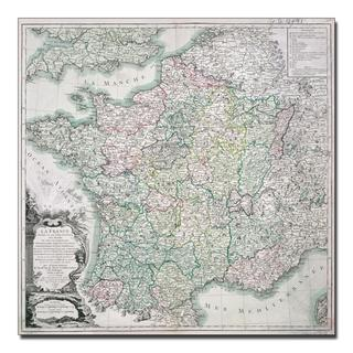 Louis Charles Desons 'Map of France, 1765' Canvas Art