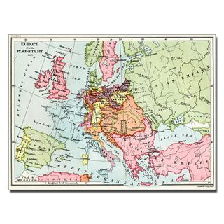 Map of Europe After the Peace of Tilsit, 1807' Canvas Art