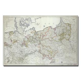 'Map of Britain, 1631' Canvas Art