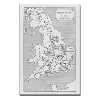 'Map of Britain in 640' Canvas Art