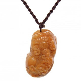 Handmade Blessing Animal Yellow Jade Necklace (China)