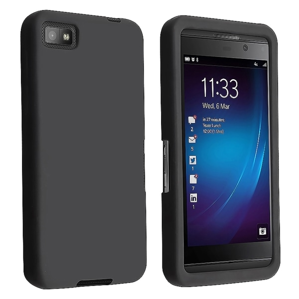 BasAcc Black Silicone Case for Blackberry Z10