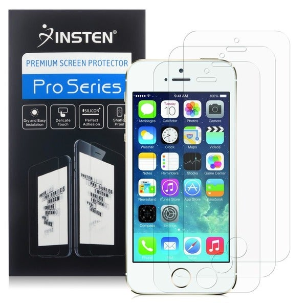 INSTEN 3-piece Anti-glare Protector for Apple iPhone 5/ 5S/ SE