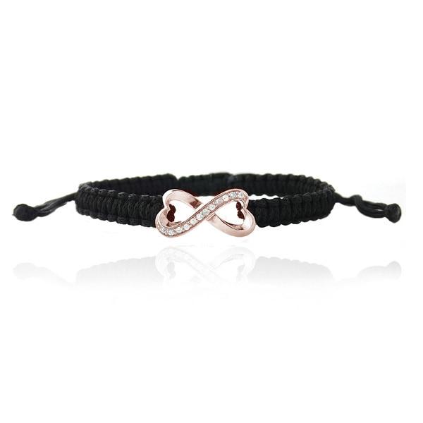 Icz Stonez Cubic Zirconia Infinity Macrame Bracelet