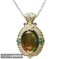 Michael Valitutti Two-tone Multi-gemstone Necklace