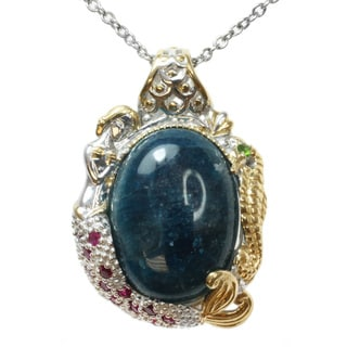 Michael Valitutti Two-tone Apatite, Ruby and Chrome Diopside Necklace