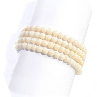 Michael Valitutti Two-tone Bamboo Coral Bead Bracelet