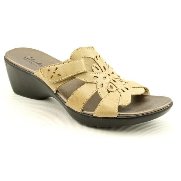 Clarks Women's 'Ella Art' Leather Sandals (Size 10)