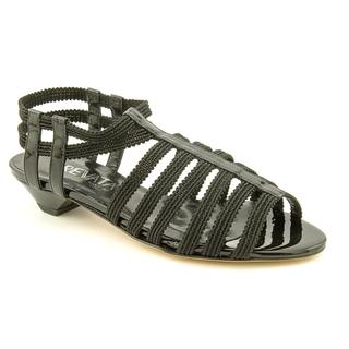 Prevata Women's 'Gotcha' Black Patent-Leather Sandals - Narrow