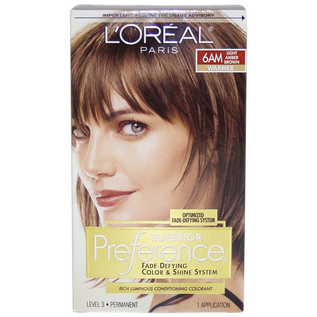 L'Oreal Superior Preference 6AM Light Amber Brown Fade-De...