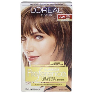 L'Oreal Superior Preference 6AM Light Amber Brown Fade-Defying Hair Color