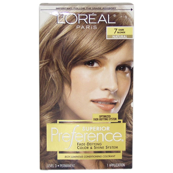 Loreal Superior Preference 7 Dark Blonde Natural Fade Defying Hair