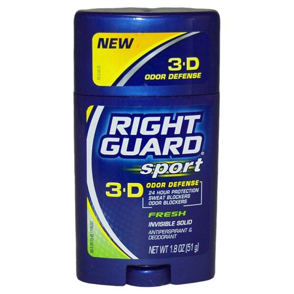 Right Guard Sport 3-D Odor Defense Invisible Solid Deodorant