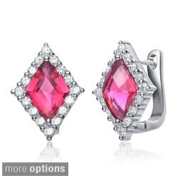 Collette Z Sterling-Silver Colored Cubic Zirconia Diamond-Shaped Earrings