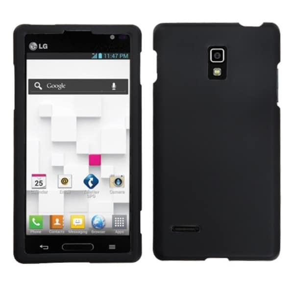 INSTEN Black Phone Protector Cover Rubberized for LG P769 Optimus L9
