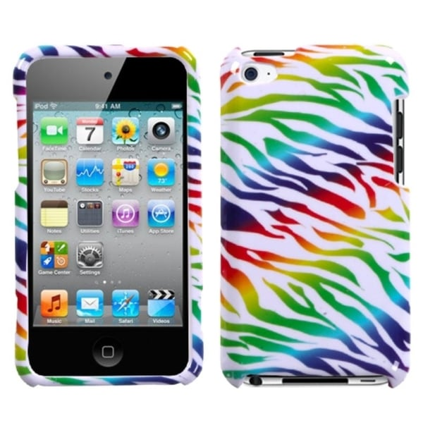 INSTEN Colorful Zebra Protector for Apple iPod Touch Generation 4