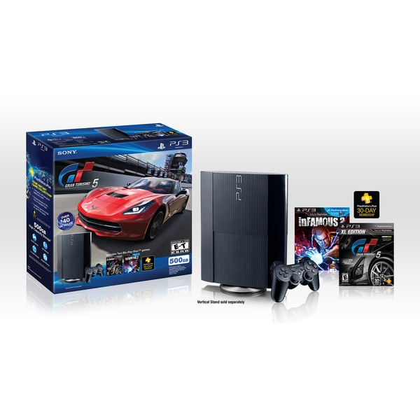 PlayStation 3 500GB Legacy Bundle with Gran Turismo 5: XL Edition & inFAMOUS 2
