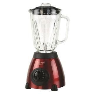Continental Electric 5-Speed Blender, Glass Jar, Metallic Red