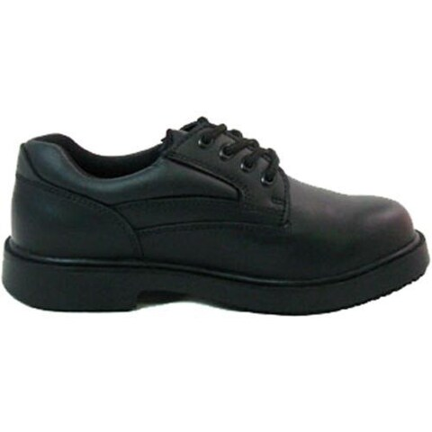 Women's Genuine Grip Footwear Slip-Resistant Blucher Black Leather