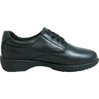 Women's Genuine Grip Footwear Slip-Resistant Oxford Casual Black Soft Full Grain Leather (More options available)