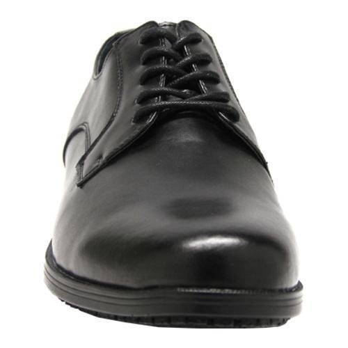 Men's Genuine Grip Footwear Slip-Resistant Oxford Dress Black Leather - Thumbnail 2