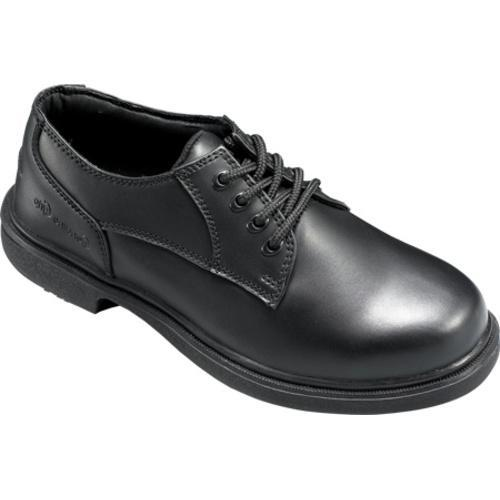 Men's Genuine Grip Footwear Slip-Resistant Oxford Work Black Leather