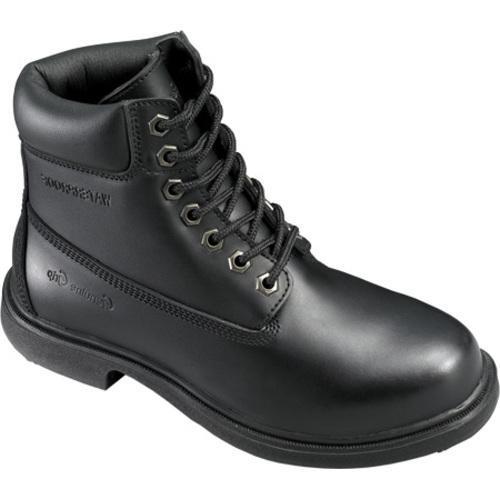 Men's Genuine Grip Footwear Slip-Resistant Waterproof Boot Black Leather