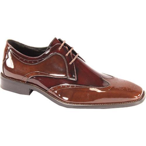 Men's Giorgio Venturi 6297 Light Brown/Burgundy Polished Leather