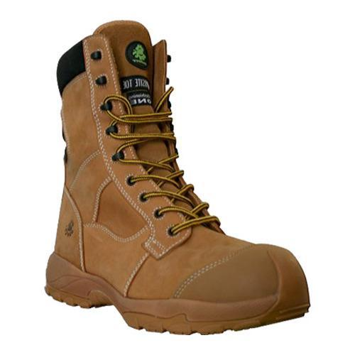 Men's Dawgs Ultralite 8in Size Zip Comfort Pro Composite Toe Sa Sand Full Grain Leather