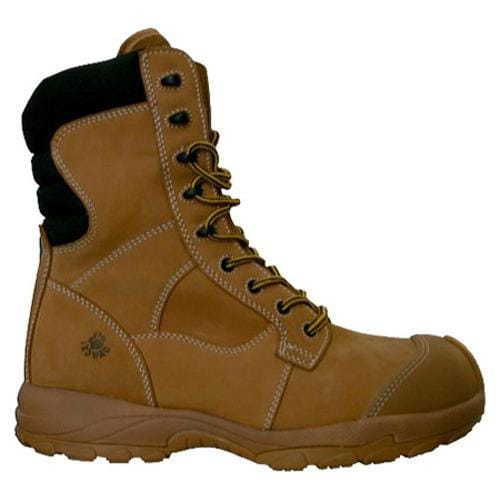 Men's Dawgs Ultralite 8in Size Zip Comfort Pro Composite Toe Sa Sand Full Grain Leather - Thumbnail 1