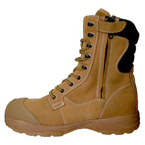 Men's Dawgs Ultralite 8in Size Zip Comfort Pro Composite Toe Sa Sand Full Grain Leather - Thumbnail 2