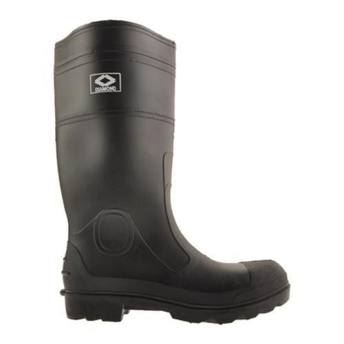 Men's Diamond Rubber Products Plain Toe Knee Boot 152 Black
