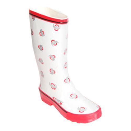 Women's Fanshoes Ohio State Rainboot White