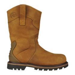 Men's Roadmate Boot Co. 10in Waterproof Padded Ankle Wellington Steel Toe Dark Brown Crazy Horse Leather